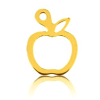 24K Gold Plated Sterling Silver Apple Charm